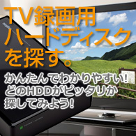 TV録画用HDDを探す
