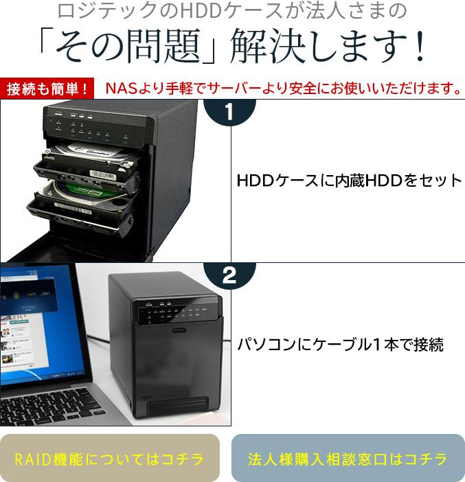 ロジテックのHDDケースが法人さまの「その問題」解決します!