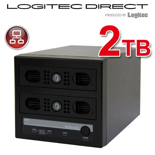 WSS 2012 R2 workgroup Edition 搭載 MiniBOX型アクセスログ強化NAS【LSV-MS2T/2VKWL】【受注生産品(納期目安2~3週間)】