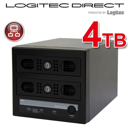 WSS 2012 R2 workgroup Edition 搭載 MiniBOX型アクセスログ強化NAS【LSV-MS4T/2VKWL】【受注生産品(納期目安2~3週間)】